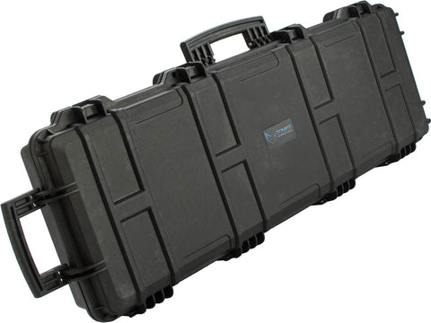 "EMG Transporter Lockable 42"" Hard Case w/ Low Profile Wheels & PnP Foam - Matte Black - Evike"