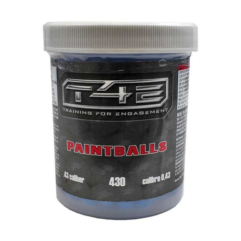Elite Force T4E .43 Cal Paintballs - 430 Count Jar - Blue - Elite Force