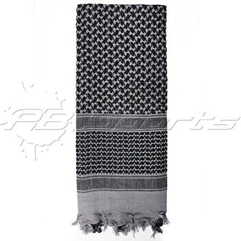 Valken Outdoor Shemagh Scarf - Grey/Black - Valken Paintball