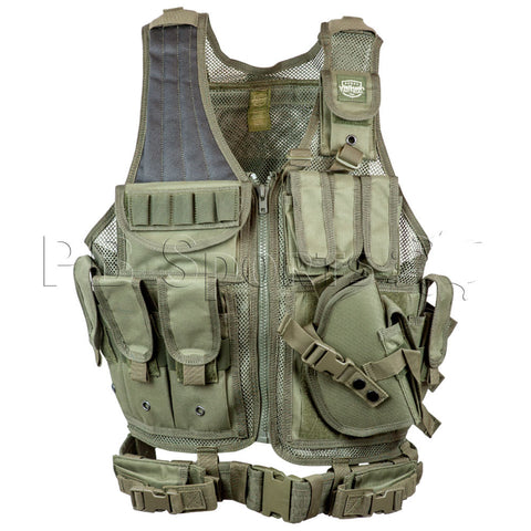 Valken Crossdraw Tactical Vest Adult - Olive