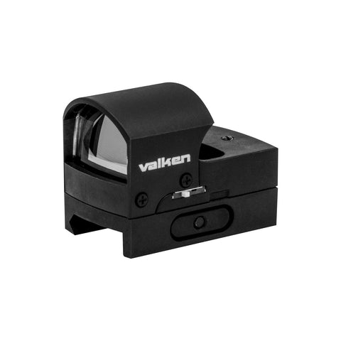 Valken Optics Mini Hooded Reflex Red Dot Molded Sight with Quick Disconnect Mount - Valken Paintball