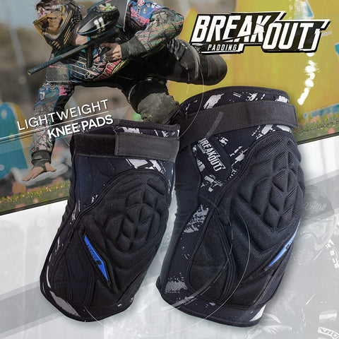 Virtue Breakout Paintball Knee Pads Blue/Black - 2XL - Virtue