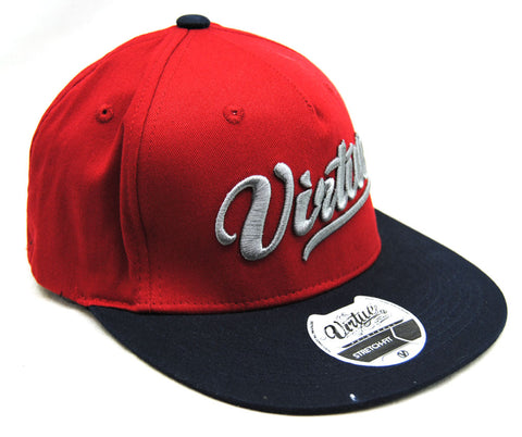 Virtue Stretch Fit Hat Red/Blue - L/XL - Virtue