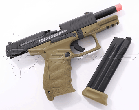 Elite Force Walther PPQ MOD 2 Tactical Green Gas Blow Back Airsoft Pistol by VFC - Elite Force