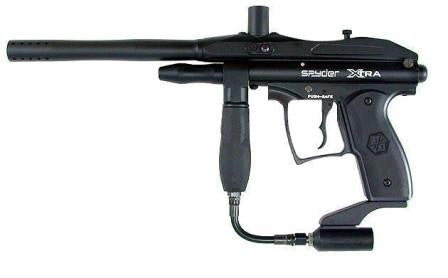 Kingman Spyder Xtra Semi-Auto paintball gun - Black - Spyder