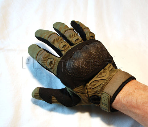 Valken Zulu Full Finger Gloves - Olive - Large - Valken Paintball