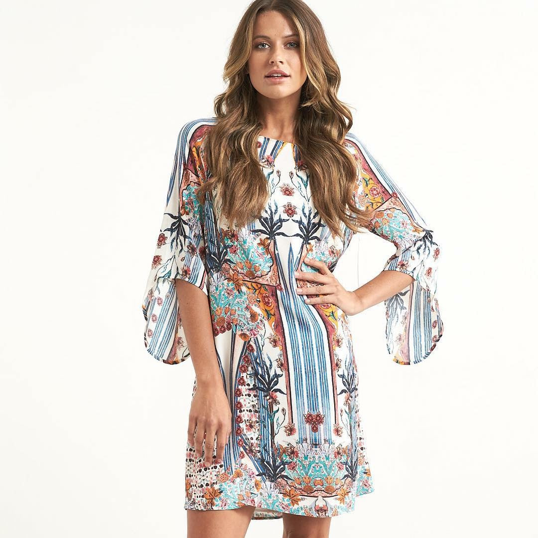 Sharon Floral Dress - La Moda