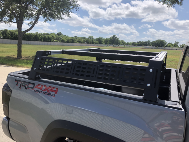 Cali Raised LED Overland Bed Rack for Toyota Tacoma 2005-Current w/Deck Rail System