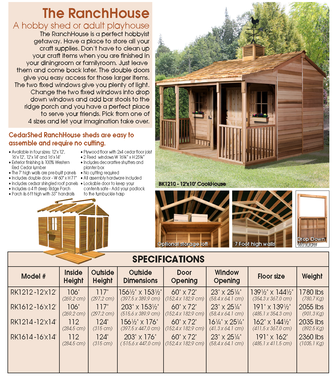 Cedarshed Ranchhouses Prefab Cottage Kits