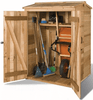Image of Cedarshed DIY 4x4 Green Pod Wooden Garbage Can & Recycling Bin Shed Kits