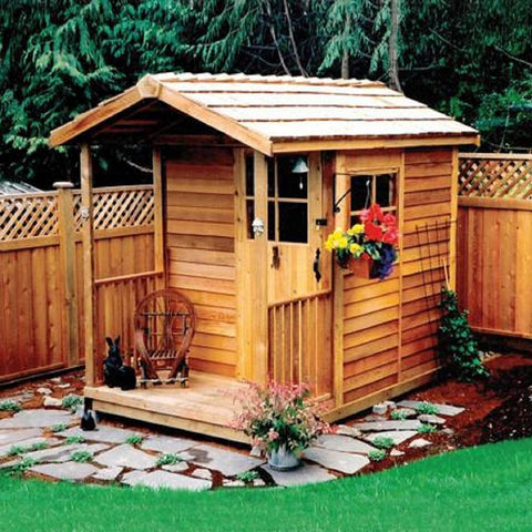 Cedarshed Gardener's Delight Gable Porch Storage Shed