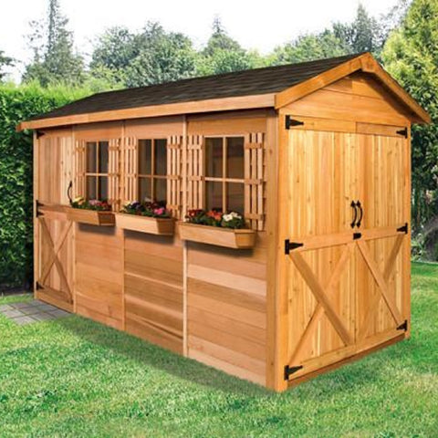 Cedarshed Gable Style Boathouse Canoe & Kayak Storage Shed Kit