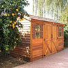 Image of Cedarshed Gable Style Longhouse Backyard  Double Door Cottage Shed
