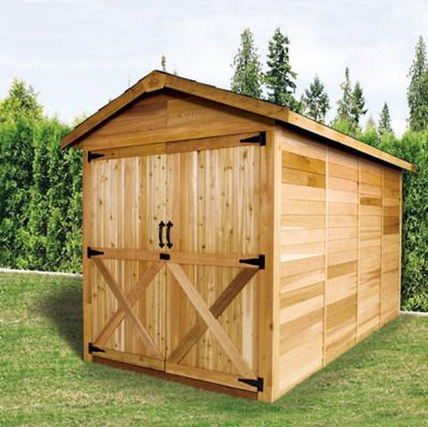 Cedarshed Rancher Large Shed Kit and Storage Solution