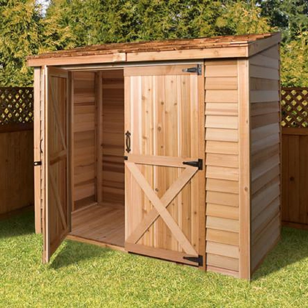 Attirant Cedarshed Lean To Storage Bayside Shed Kit Storage