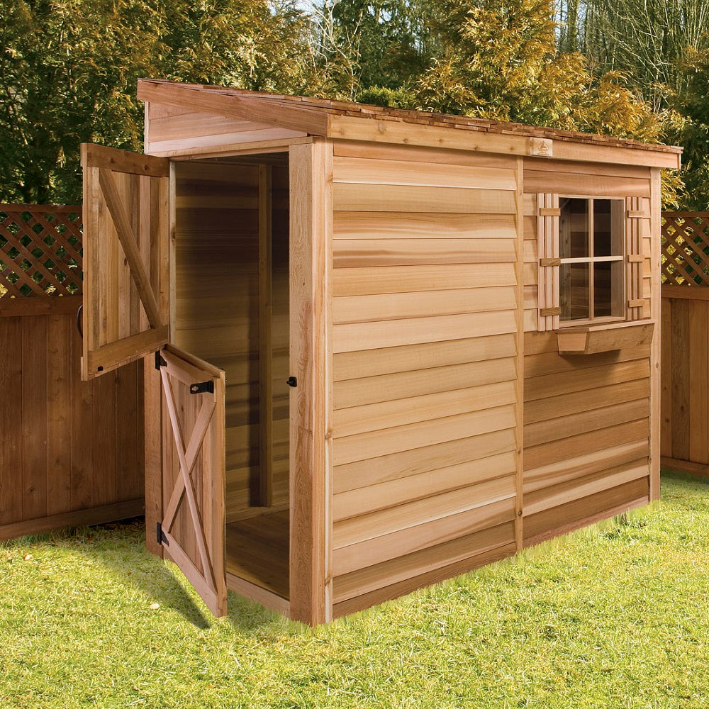 Cedarshed Lean To Storage Bayside Shed Kit Storage Solution ...