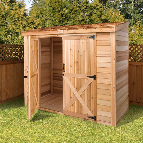 Cedarshed Lean To Storage Bayside Shed Kit Storage Solution
