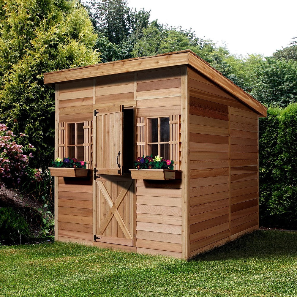 Artist Studio Overlooks Guest Cabin With Rooftop Garden: Cedarshed Lean To Shed Storage Prefab Studio Shed Kit