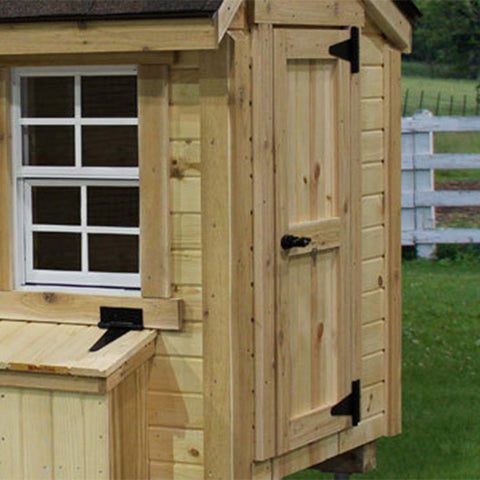 EZ-Fit Sheds Chicken Coop 3' x 4' -DIY Kit Man Door