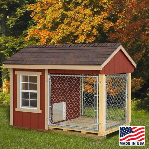 EZ-Fit Sheds 4'x7' Outdoor Dog Kennel with Run