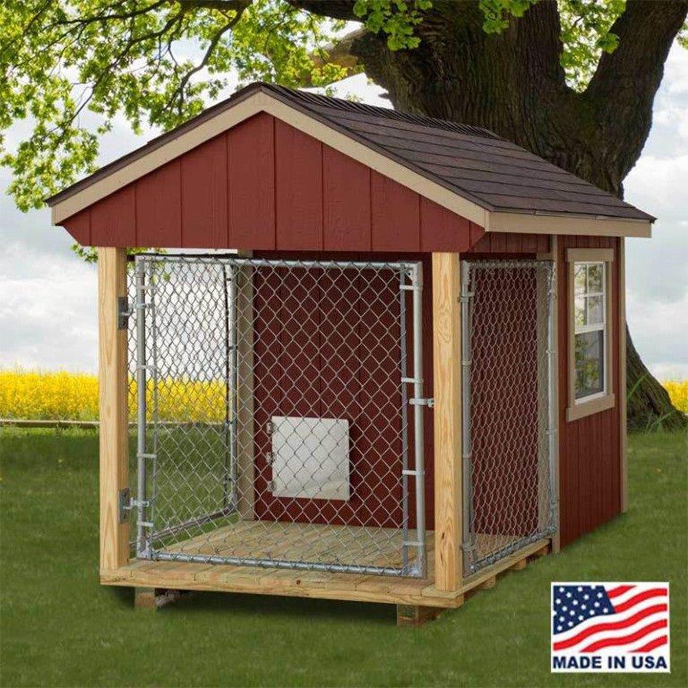 Ez fit sheds 5 39 x8 39 indoor outdoor dog kennel for medium for Dog kennel greenhouse
