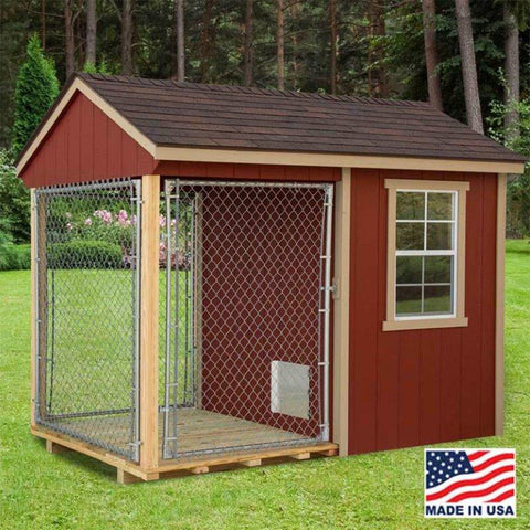 EZ-Fit Sheds 6'x10' Outdoor Large Dog Kennel with Run