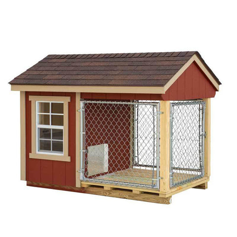 EZ-Fit Sheds 4'x7' Outdoor Dog Cage Outdoor Run with fence