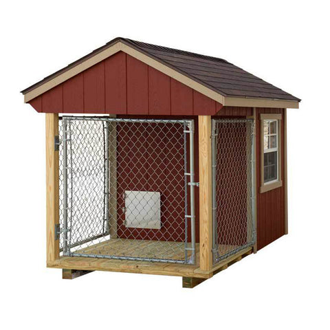 EZ-Fit Sheds 5'x8' Outdoor Medium Dog Kennel with Run