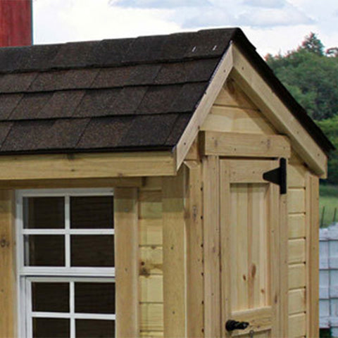 EZ-Fit Chicken Coop Run 4' x 6' -DIY Chicken Pen Kit Roof Shingles