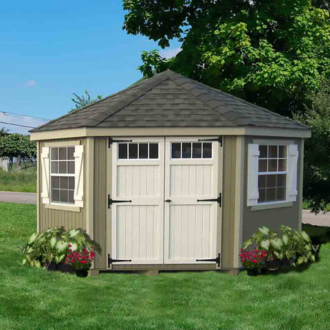Little Cottage Company Colonial Five-Corner 10x10 Shed