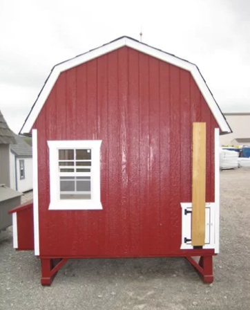 Little Cottage Company Gambrel Barn Chicken Coop with Floor Kit