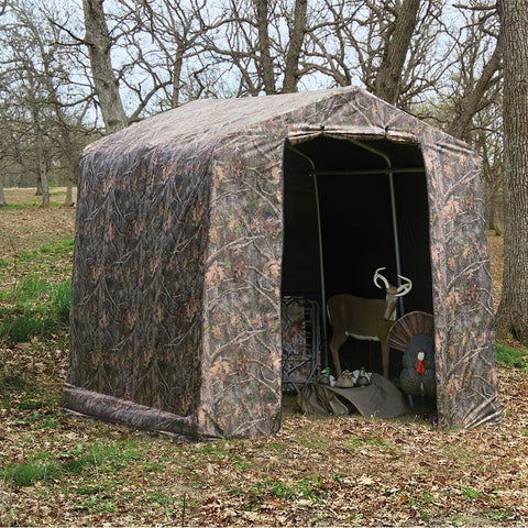 ShelterLogic 8'×8'×8' Peak Style Camouflage Storage Shed