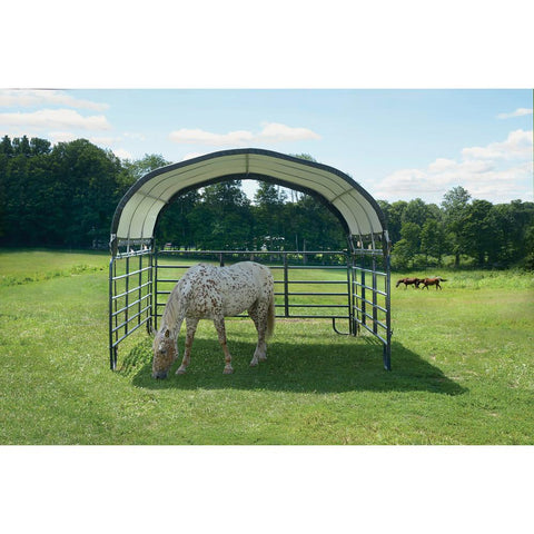 ShelterLogic 12x12 Green Powder Coated Corral Shelter
