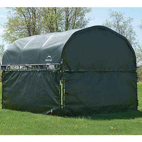 ShelterLogic Corral Shelter Green Enclosure Kit - (1) End Panel and (3) Side Panels