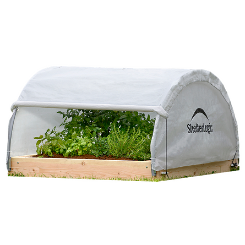 ShelterLogic GrowIT Backyard Raised Bed Round Greenhouse
