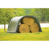 Image of ShelterLogic 12x20x8 Round Style Run-In Shelter, Green Cover