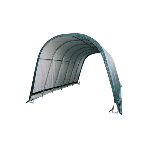 ShelterLogic 12x24x10 Round Style Run-In Shelter in Green