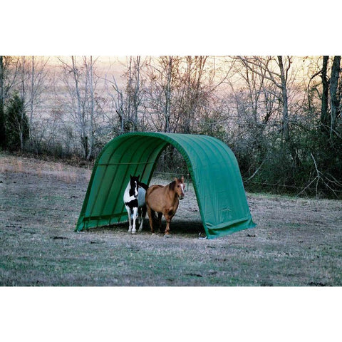 ShelterLogic 13x24x10 Round Style Run-In Shelter in Green