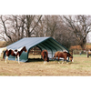 Image of ShelterLogic 22x20x10 Peak Style Run-In/Hay-Storage Shelter with Green Cover