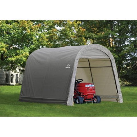 ShelterLogic 10x10x8 ft. / 3x3x2,4 m Round Style Storage Shed Grey Cover