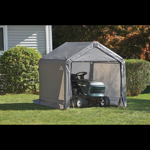 ShelterLogic Shed-In-A-Box 6x6x6' Peak Style Grey Storage Shed