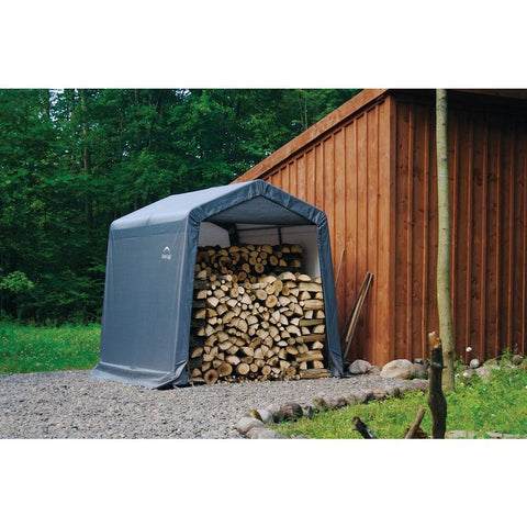 ShelterLogic Shed-In-A-Box 8×8×8 Grey Peak Style Storage Shed