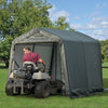 Image of ShelterLogic Shed-In-A-Box 8×8×8 Grey Peak Style Storage Shed