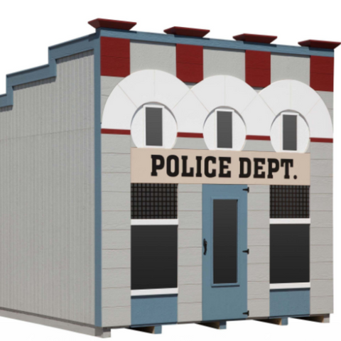 Little Cottage Company Police Department Playhouse - Little Cottage Village