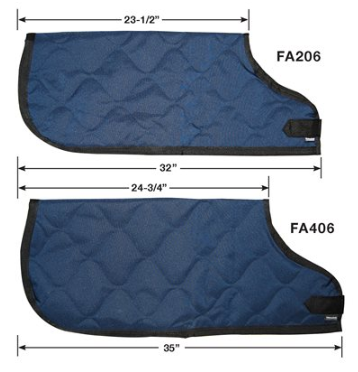 Navy Quilted, Insulated, Water Resistant Calf Jacket - Small (Jersey size)