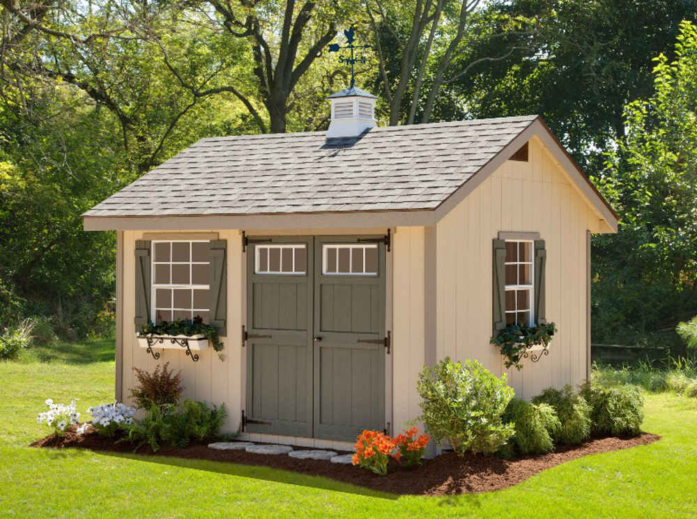 EZ-Fit Sheds Heritage Outdoor Garden Shed Storage Solution ...