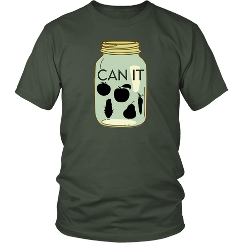 Can It | Homestead Canning Mason Jar Mens T-Shirt