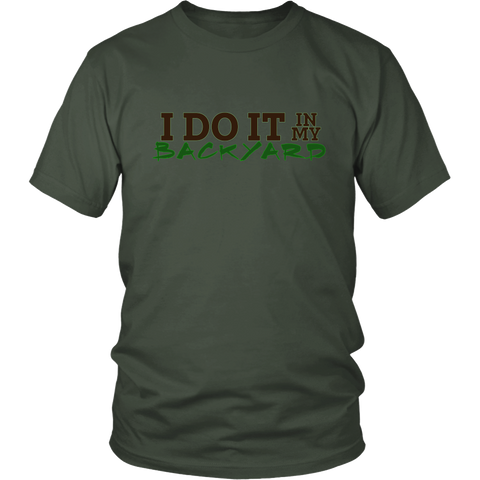 I Do It In My Backyard | Homestead and Farming Crops Mens T-shirt