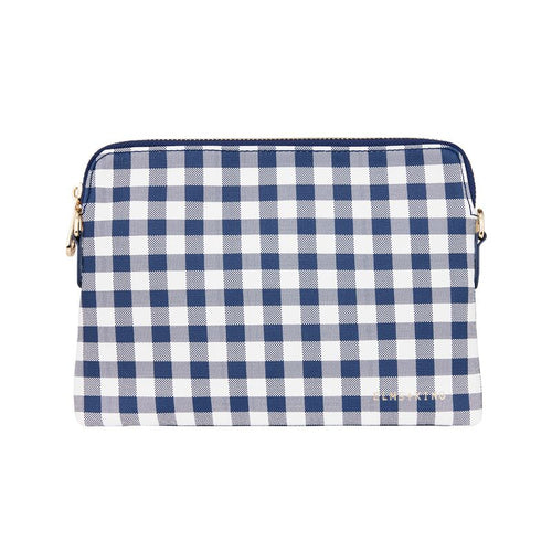 ELMS AND KING BOWERY WALLET - NAVY GINGHAM