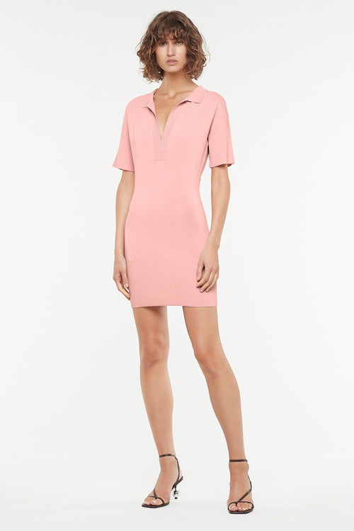 MANNING CARTELL MINI MARVEL KNIT DRESS - ROSE